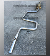 99-02 Mercury Cougar Exhaust - 2.25 inch Aluminized with Magnaflow