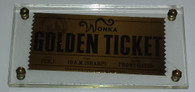 Willy Wonka and the Chocolate Factory Gold Ticket