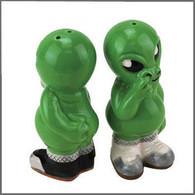 Green Alien Pickers Salt Pepper Shakers