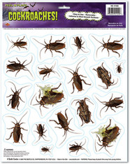 Cockroaches Peel 'N Place Window Clings