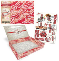 Bacon Storage Box with Stickers