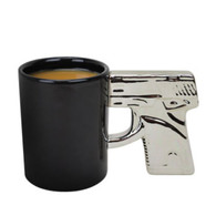 Chrome Handle Gun Mug