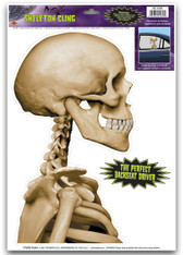 Skeleton Backseat Driver Car Cling