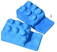 Building Brick Slippers Blue