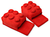 Building Brick Slippers Red