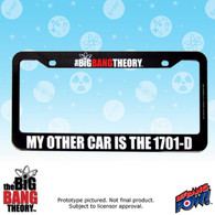 The Big Bang Theory / Star Trek My Other Car Is The 1701-D License Plate Frame