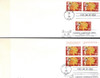 China Stamps - 1992, 1993, 1994 , 9 complete sets + 4 Sourvenir Sheet + 2 Chinese New Year w/US stamps. Total 18 First Day Covers - F-VF (90012)
