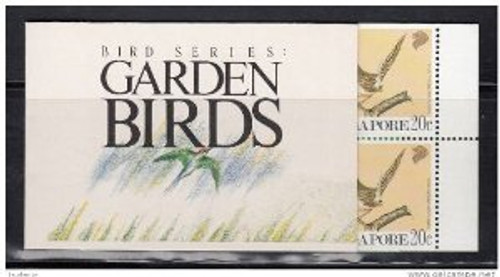 Singapore Stamps - Singapore 1991 Garden Birds Booklet - (9A00F)