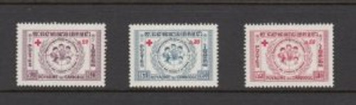 Cambodia Stamps - 1959 , Sc B8-10 Red Cross - MNH, F-VF - (9A02W)