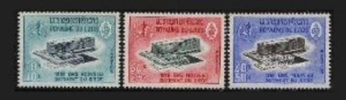 Laos Stamps - 1966 Scott # 126-8, 1966 WHO, MNH, F-VF - (9A03E)