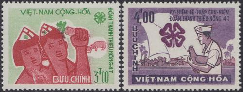 South Vienam Stamps - 1965 , Scott # 270-1 - Young Farmers - MNH, F-VF (9V08F)