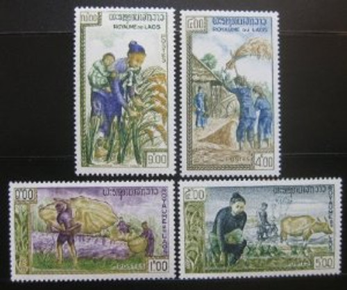 Laos Stamps - 1963 Scott 81-4, Freedom from Hunger campaign, MNH, F-VF - (9A03L)