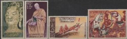 Laos Stamps - 1957 - Sc C27-30 Buddha Buddhist Monks - MNH, F-VF - (9A04G)