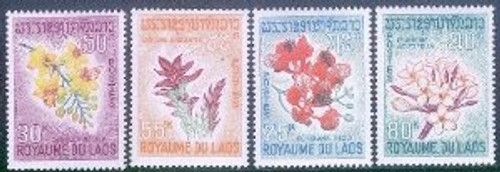 Laos Stamps - 1967 - Sc 152-5 Flowers - MNH, F-VF - (9A04H)