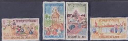 Laos Stamps - 1966 - Sc 129-32, Folklore - MNH, F-VF - (9A04N)