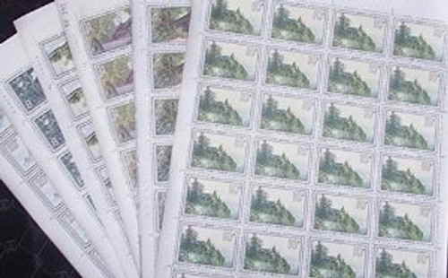 China Stamps - 1984 , T100 , Scott 1956-61 Scenes of Mount Emei - Full sheet of 28 complete sets - MNH, F-VF - (9195G)