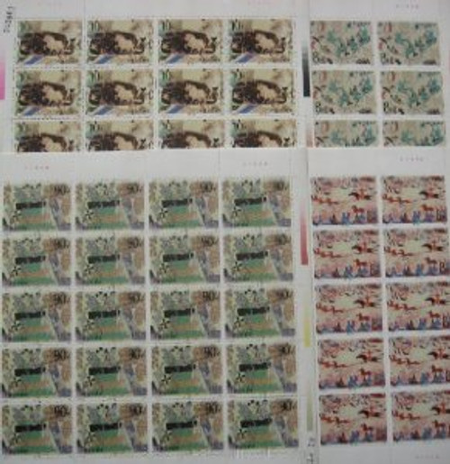 China Stamps - 1988, T126 , Scott 2149-52 Dunhuang Murals (2nd Series) - Full Sheet of 20 sets -  MNH-VF Post Office Fresh - (9214F)