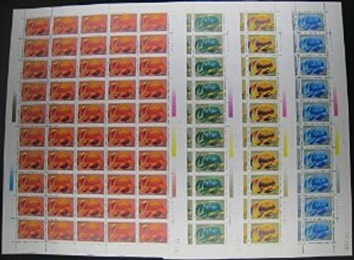 China Stamps - 1989, J163 , Scott 2236-9 40th Anniv. of Founding of PRC - Full sheet of 50 complete sets -  MNH, VF - (9223F)