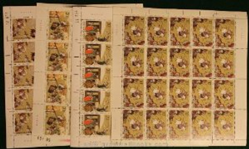 China Stamps - 1990 , T157 , Scott 2310-13 The Romance of the Three Kingdoms (2nd Series), Full Sheet of 20 Complete Sets, MNH-VF - (9231B)