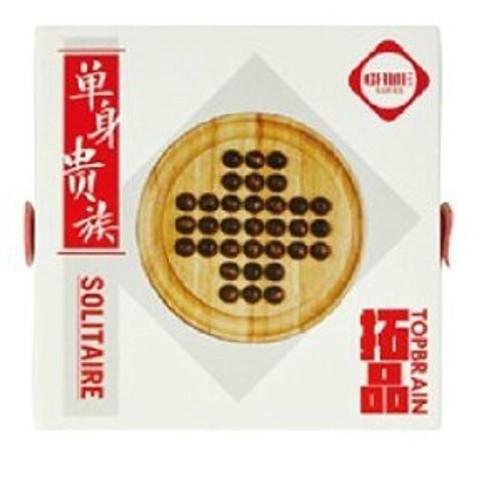 "Wooden Solitare - Board size: 5.25"" diameter(WXL2)"