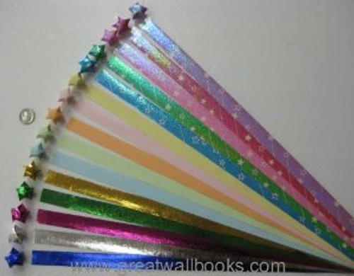Origami Stars Papers (large size) Package 4T (3 packs total 270 pieces)(WX4T)