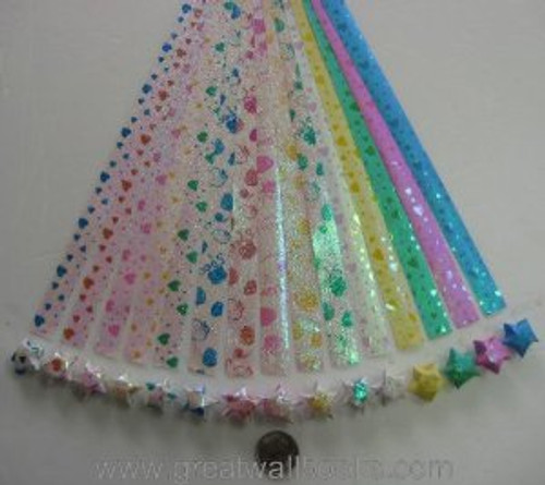 Origami Stars Papers (Large Size) Package EL (3 packs total approx. 240 pieces)(WXEL)