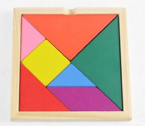 """Tangram for kids 3 years and up (size: 5.5"""" x 5.5"""" including frames)(WXBN)"""