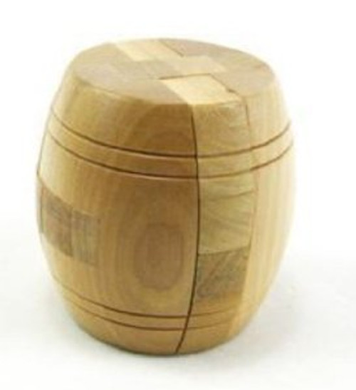 "Wooden Kongming Lock Puzzle - Size: 2.5"" x 2.5""(WXKY)"
