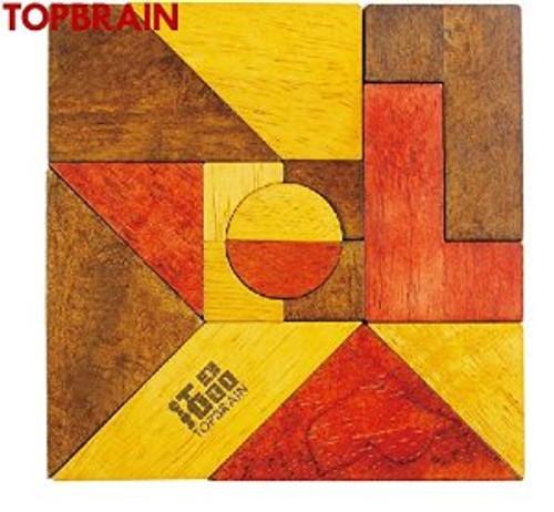 "Fifteen-Piece Tangram Puzzle + Seven-piece Tangram Puzzle (size: 6.0"" x 6.0"" including frames) (WXL5)"