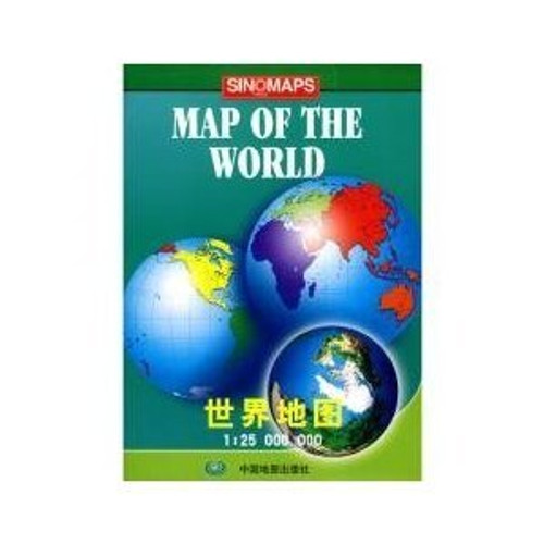 Map of the World (Chinese-English Edition) scale 1 : 25,000,000 - (WC80)