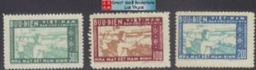 Vietnam Stamps - 1957, Sc 51-3, Nam Dinh Textile - MNH, F-VF - (9N094)