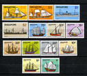 Singapore Stamps - 1980, Sc 336-48 Ships Definitives - MNH, F-VF (9A00J)