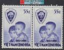 South Vietnam Stamps - 1956, Sc 62, Operation Brotherhood - Pair - MNH, F-VF (9V06J)
