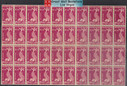 South Vietnam Stamps - 1952 , Sc C9, Fish, Block of 40 (folded lines), MNH, F-VF (9V06Q)