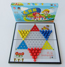 "Magnet Chinese Checkers Game for Travel - Game Board Size: 11.1"" x 11.3"", Package box size: 11.25"" x 6.0"" x 1.25"""