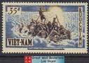 South Vietnam Stamps - 1956 , Sc 54 Refugees on Raft - MVLH, F-VF (9V072)