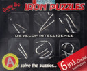 """Chinese Linked Rings Puzzle/ Chinese Rings - 6 in 1 classic iron puzzle, set A - box size : 8.5"""" x 7"""" (WXA7)"""