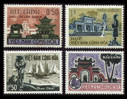 South Vienam Stamps - 1964 , Scott # 247-50 Landscapes: Temple, Beach, Royal Tomb - MNH, F-VF (9V08E)