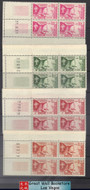 Laos Stamps - 1959 Scott # 52-5, King Sisavang-Vong - Block of 4 w/ control number or date of issue - MNH, F-VF (9A089)