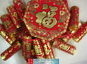 "Chinese New Year Decorative Firecrackers size 60"" Long (measured from top of of the octagon to the last firecracker) (WXF6)"