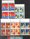 China Stamps - 1984, J105 , Scott 1944-48 35th Anniv. of Founding of People's Republic of China - Imprint Block of 4 - MNH, F-VF - (9194A)