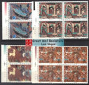 China Stamps - 1987, T116 , Scott 2091-94 Dunhuang Murals (1st Set) - Blocks of 4 w/imprint - MNH, VF - (9209B)