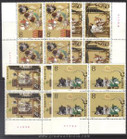 China Stamps - 1988, T131 , Scott 2176-80 The Romance of the Three Kingdoms (1st Series) - Block of 4 w/Imprint - MNH, F-VF - (9217B)