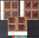 China Stamps - 1989, T135 , Scott 2208-10 A Polychrome Painting on Silk Unearthed from Han Tomb No.1 at Mawangdui, Changsha - Imprint Block of 4 - MNH, VF - (9220B)
