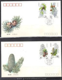 China Stamps - 1992-3 , Scott 2382-5 Fir of China - First Day Cover - (9238K)
