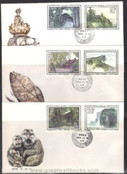 China Stamps - 1984 , T100 , Scott 1956-61 Scenes of Mount Emei, three First Day Covers, F-VF - (9195D)