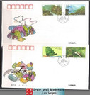 China Stamps - 1995-3 , Scott 2554 - 7 The Dinghu Mountain - complete set of 2 First Day Covers - (9255N)
