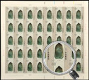 China Stamps - 2000-25 , Scott 3074-77 Ancient Bells of China - Full sheet of 40 complete sets - MNH, F-VF - (9307F)