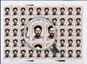 China Stamps - 1999-8 , Scott 2966-67 The 100th Anniversary of the Birth of Comrade Fang Zhimin - Full sheet of 50 complete sets - MNH, VF - (9296G)
