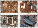 China Stamps - 1987, T116 , Scott 2091-94 Dunhuang Murals (1st Set) - MNH, VF - (92091)